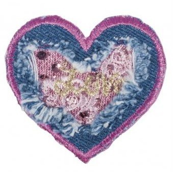 Patch Jeansheart 5,8cm for ironing