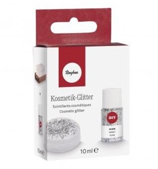 Kozmetické glitre do mydla / 10ml / strieborné