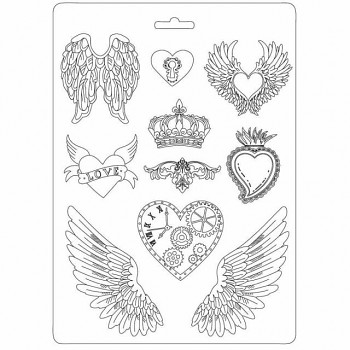 форма A4 - Hearts and wings