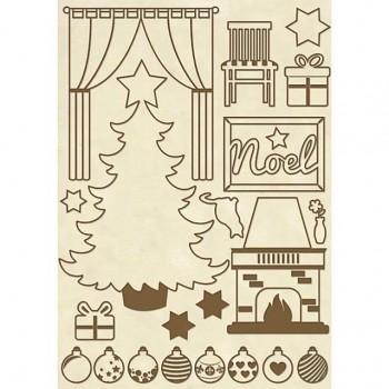 Holz-Streuteile A5 / Christmas Home
