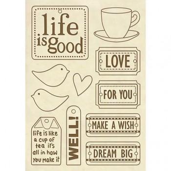 "Drevené výrezy A5 / ""Life is good"""