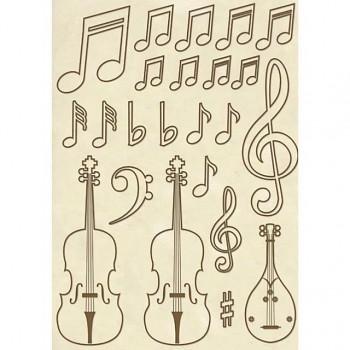 Drevené výrezy A5 / Violin
