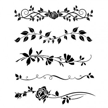 Stencil / 20x25cm / Bordure rose