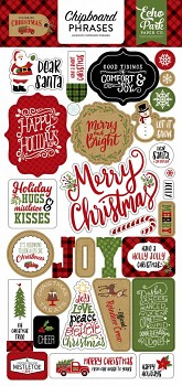Celebrate Christmas / Chipboard Phrases / 6x12""