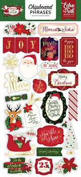 Merry & Bright / Chipboard Phrases / 6x12""