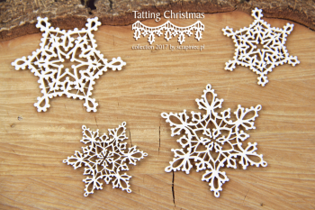 Chipboards - Tatting christmas - small stars / 5,5x5cm / 4ks