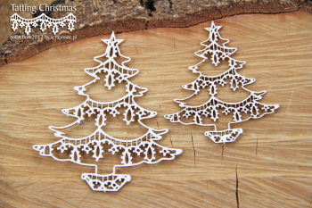 Chipboards - Tatting christmas - christmas trees / 7,5x7cm / 2ks