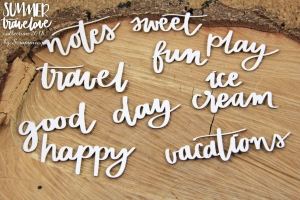 Chipboards - Summer travelove - inscriptions