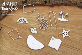 Chipboards - Summer travelove - fruits