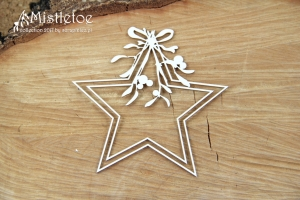 Chipboards - Mistletoe - star / 9x9cm / 1ks