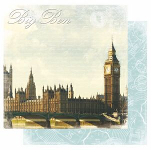 Scrapbookový papier / Big Ben