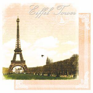 Scrapbookový papier / Eiffel Tower