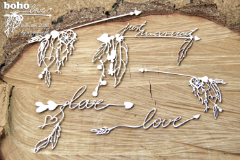 Chipboards - Boho Love - big arrows / 11x8,5cm / 5pcs