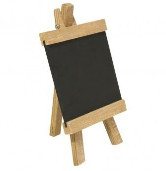 Wooden easel with blackboard, 10x18 cm