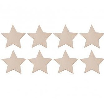 Small wood.items Stars 5.5cm / 8pcs