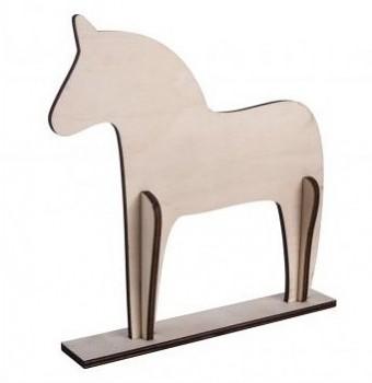 Dřevěné dekorace / horse, Scandinav., 22.5x22x0.6cm