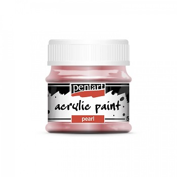 Pentart acrylic paint pearl effect / pink