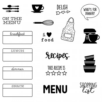 On the Menu Stamps / Transparentné razítka