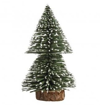 Deco-fir tree, snow-covered, 15cm