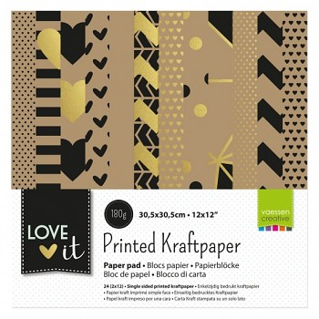 "Sada papierov 12x12"" / 24ks / Love It kraft"