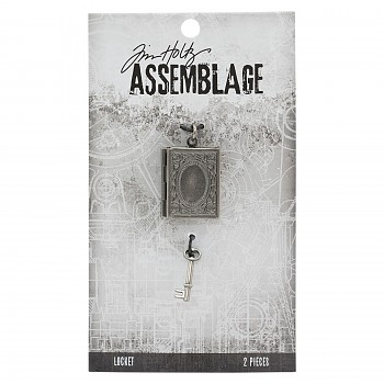 Tim Holtz Assemblage locket book and charm key
