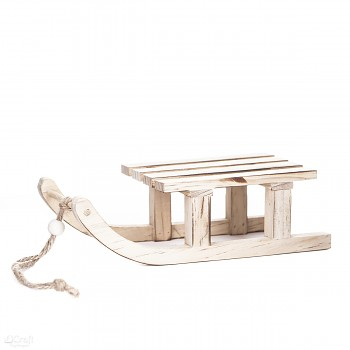 Wooden decor - sledge / 8,5x20cm