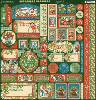 Christmas Magic 12x12 Inch Decorative Stickers