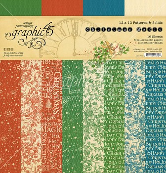 "Christmas Magic 12x12"" Patterns & Solids Paper Pad / Sada papierov"