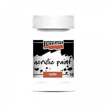 Pentart akrylová farba matná 100ml / titánovo biela