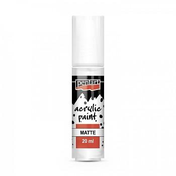 Pentart Acrylfarbe matt 20ml / titan weiß