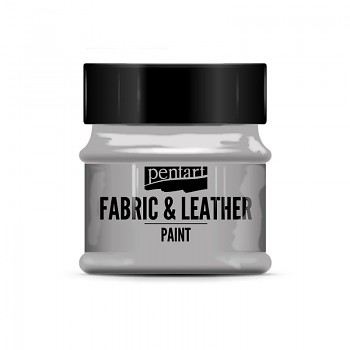 Fabric & Leather Paint 50ml / glitter silver