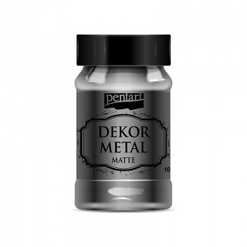 Pentart Dekor Metal 100ml / antracitová