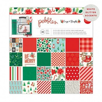 Pebbles - Cozy & Bright / Sada papierov 12x12 / 48ks