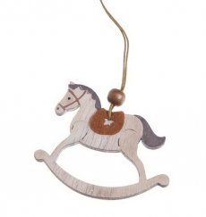 Wooden decor - horse 12,5cm