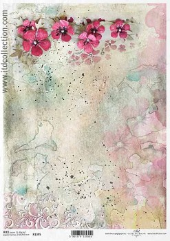 Rice decoupage paper A4 / ITD R1395