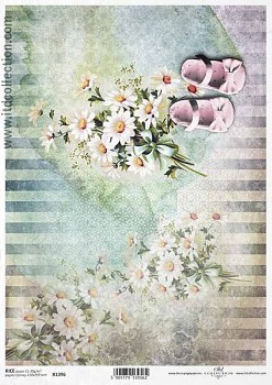Rice decoupage paper A4 / ITD R1396