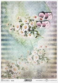 Ryžový papier na decoupage A4 / ITD R1396