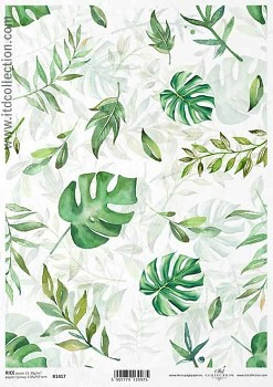 Rice decoupage paper A4 / ITD R1417