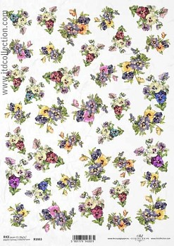 Rice decoupage paper A4 / ITD R1443