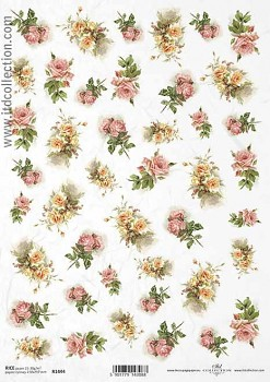 Rice decoupage paper A4 / ITD R1444
