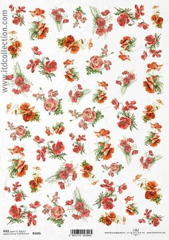 Rice decoupage paper A4 / ITD R1445