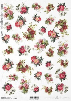 Rice decoupage paper A4 / ITD R1452