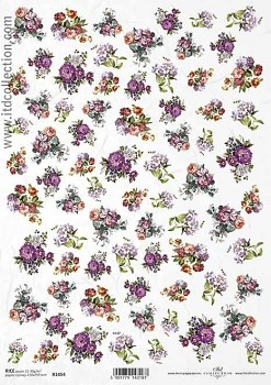 Rice decoupage paper A4 / ITD R1454