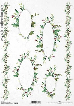 Rice decoupage paper A4 / ITD R1471