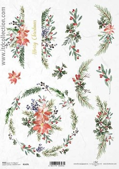 Rice decoupage paper A4 / ITD R1476