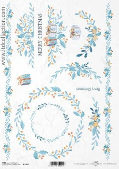 Rice decoupage paper A4 / ITD R1480