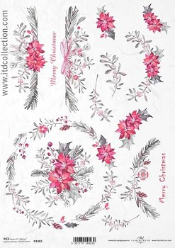 Rice decoupage paper A4 / ITD R1482