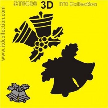 Šablóna 16x16cm / 3D zvonček