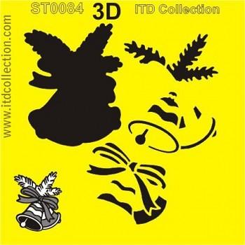 Szablon 16x16 / 3D Christmas bell 2