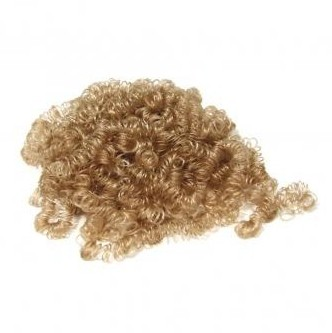 Mini curls of artificial hair / 14 g / blond